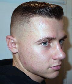Crewcut pomp Flat Top Haircut, Tapered Haircut, Fade Haircut, Young Boy Haircuts, Hot Haircuts, Hair And Beard Styles, Short Hair Styles, Slicked Back Hair, Undercut Hairstyles