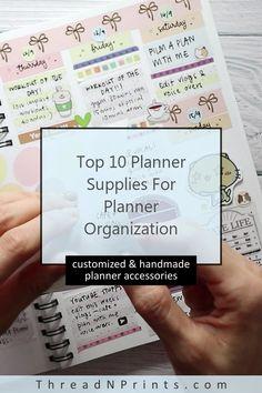 Erin Condren Planner Stickers Back To School Passion Planner, Happy Planner, Journal Stickers, Planner Stickers, Refillable Planner, Refillable Journal, Bullet Journal Essentials, Planner Organization, Organizer Planner