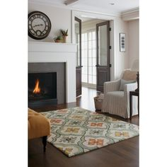 With the bold colors and intricate pattern, the Threshold Floral Bell Hand Tufted Indoor/Outdoor Area Rug is so awesome you'll want to use it both indoors and out. This is a GoodWeave-certified rug. GoodWeave-certified rugs are woven by adult artisans and help support the education of thousands of at-risk children in India who may otherwise need to work.