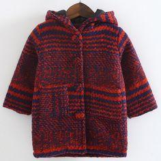 cuddly hooded coat for children