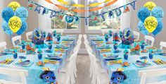 Find Theme Birthday Decorations and Balloon Decorations for Birthday parties in Mumbai. Find Birthday Party Decorators for your Kid's as well as Adult's Birthday celebrations at BookeventZ. Birthday Balloon Decorations, Birthday Balloons, Baby Shower Decorations, Birthday Party Celebration, Birthday Party Themes, Elegant Baby Shower, Finding Dory, First Birthdays, Decor Ideas