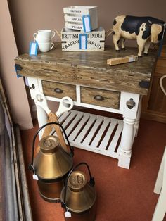 Lovely solid wood Butchers Block with a hanging side rail, 2 drawers and a bottle opener Apple Pear, Lovely Shop, Kitchen Cart, Bottle Opener, Home Accessories, Solid Wood, Drawers, House, Ideas