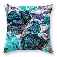 Floral Throw pillow By Shauna De Bella