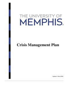 Crisis Management Framework  Emergency Planning Resources