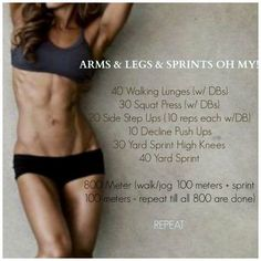 Found my workout for today! With a suggested burnout at the end. Oh man! Here we go!