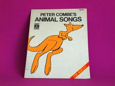Peter Combe's Animal Songs Book - Vintage Retro 1987 Music Activity Colouring For Kids Ages 3-7 by FunkyKoala on Etsy