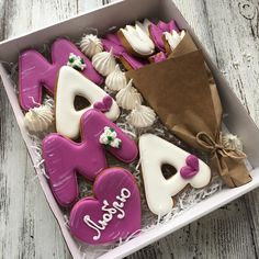 Mother's Day Cookies, Fancy Cookies, Valentine Cookies, Iced Cookies, Cupcake Cookies, Sugar Cookies, Cupcakes, Decorating Icing Recipe, Cookie Decorating