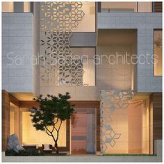 Sarah sadeq architect Villa Design, Facade Design, Exterior Design, House Design, Islamic Architecture, Facade Architecture, Jaali Design, Home Building Design, Balcony Design