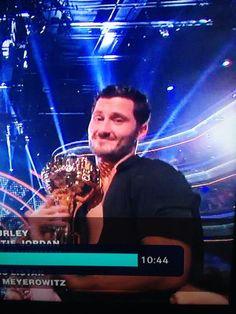 Dancing With the Stars - Val Chmerkovskiy celebrates his & Rumer Willis' Season 20 win - week 10 finale - spring 2015