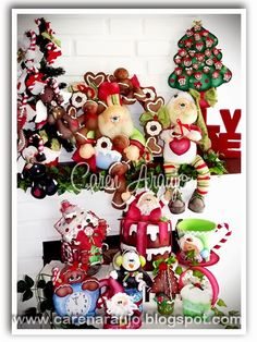 Tutti Colore by Caren Araujo: Peças do Curso Virtual Delícia de Natal Felt Ornaments, Christmas Ornaments, Lego Minecraft, All Things Christmas, Advent Calendar, Gingerbread, Santa, Xmas, Wreaths