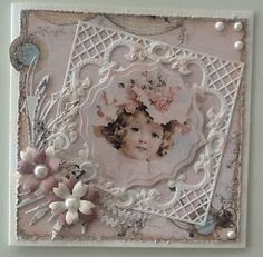 This lovely, feminine design would make a great heritage layout. ~ Mijn kaarten bloggie