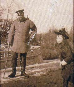 Alexander III  with daughter Olga.