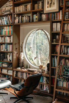 Home Library Design, Dream Home Design, My Dream Home, Cozy Home Library, Study Interior Design, Library Room, Dream Library, Library Store, Future Library
