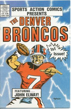 Your own Denver Broncos comic book. And our Superman QB John Elway on the cover Denver Broncos Players, Denver Broncos Football, Go Broncos, Broncos Fans, Best Football Team, Cincinnati Bengals, Pittsburgh Steelers, Dallas Cowboys, Bronco Sports