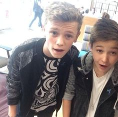 They were so cute young and now they're handsome