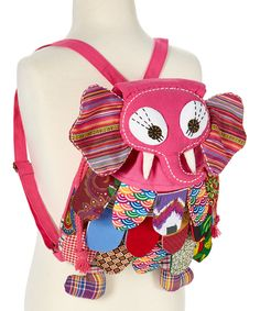 This Lily Kids Pink Patchwork Elephant Backpack by Lily Kids is perfect! #zulilyfinds