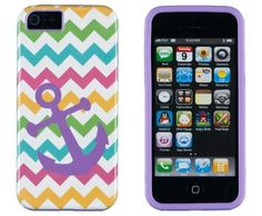I have this case and really like it! It's under $10 yet cute and protective. They have other patterns.  DandyCase 2in1 Hybrid High Impact Hard Nautical Anchor Colorful Chevron Pattern + Purple Silicone Case Cover For Apple iPhone 5S & iPhone 5 (not 5C) + DandyCase Screen Cleaner:Amazon:Cell Phones & Accessories