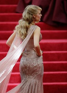 Long fabric panels on Blake Lively's dress evoked wings when moving.