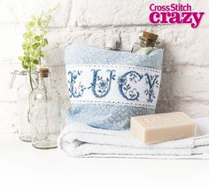 These powder blue floral letters by Susan Bates for Crazy issue 217 can add a soft touch to your home!