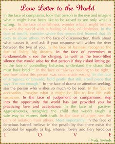 Social 3: My message to the world that would unite all social beings! Every line in this letter is so emotional & true. We really should keep every word of this in our hearts as we look out into the world & also when we look inside ourselves.