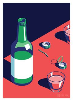 A Night Out in Seoul Coen Pohl: A small series of posters of scenes from a typical night out in Seoul.  Made as a personal project to explore styles and colour combinations and because I love the nightlife in Korea.