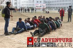 #CUians give themselves an adrenaline push with vigorous tasks and activities at the #CU #Adventure #Club. - #Chandigarh #University