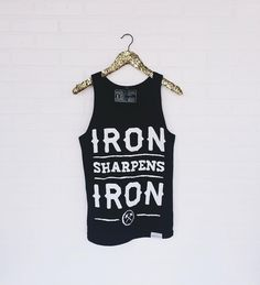Have you seen our new Iron Sharpens Iron tank?!  #walkinlove