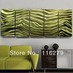 "Modern Abstract Green Jewel Metal Wall Art Sculpture ""Euphoria"" Jon Allen free shipping-in Painting & Calligraphy from Home & Garden on Aliexpress.com"