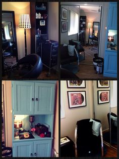 Salon chair with hair dryer my future salon pinterest - Mom S Home Salon On Pinterest Home Hair Salons Home