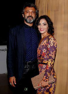 Domingos Montagner chega à festa acompanhado da esposa, Luciana (Foto: Fábio Rocha/Gshow)