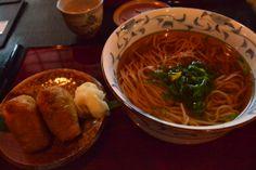 Soba and Inari-sushi