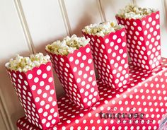 Fireman party popcorn boxes