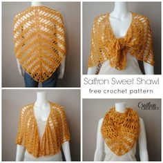I love the versatility of this shawl.  Free pattern designed by me on Cre8tionCrochet.  This would make an absolutely perfect Mother's Day present.