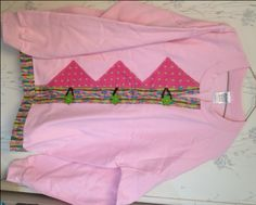Sweatshirt Cardigan Pink  With Green Dots & Floral Trim and Green Retro Flower Buttons Size Large - pinned by pin4etsy.com