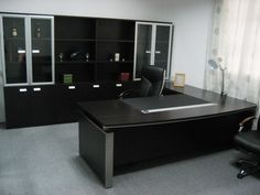 remarkable dark modern table and cabinets in modern executive office desk furniture design ideas: executive office design ideas
