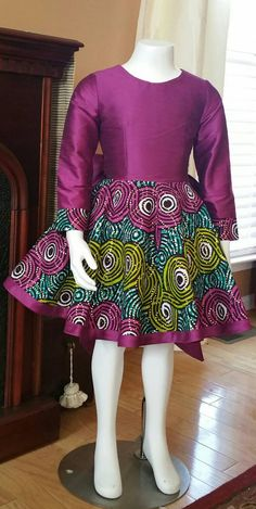 African Metallic Wax Print Holiday Dress. Fit and by NanayahStudio