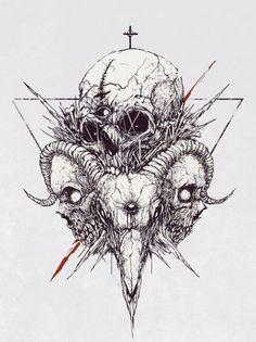 Skull Tattoo Design, Tattoo Design Drawings, Skull Tattoos, Tattoo Sketches, Body Art Tattoos, Art Sketches, Dark Art Illustrations, Dark Art Drawings, Illustration Art