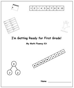 Use this template to create customized summer fluency packets for your GK students.