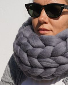 Staying warm & stylish in a * * * * * Chunky Knit Scarves, Chunky Knits, Oversized Scarf, Knit Cowl, Wool Scarf, Exclusive Collection, Stay Warm, Cosy, Winter Outfits