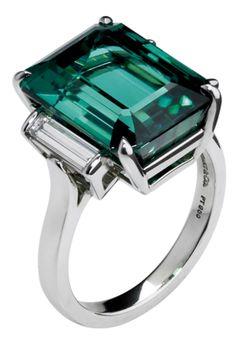 Cocktail ring (Tiffany & Co. emerald-cut Tourmaline)