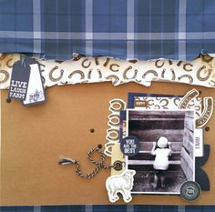 Kaisercraft : Old Mac collection : You Are the Best layout by Amanda Baldwin Scrapbooking Layouts, Scrapbook Pages, Mac Collection, Happy D, Farm Fun, Lucky Horseshoe, Farm Yard, Paper Background, Pattern Paper