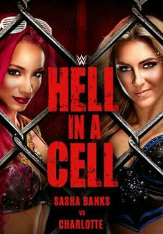 Hell in a Cell PPV Sasha Banks (C) vs Charlotte for WWE Raw Women's Champion