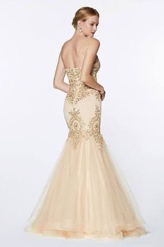 Cinderella Divine 9179 Strapless Mermaid Tulle Gown Champagne Lace Details And Beading Mermaid Skirt, Mermaid Gown, Prom Dresses, Wedding Dresses, Bride Dresses, Long Dresses, Funeral Dress, Strapless Sweetheart Neckline, Prom Long