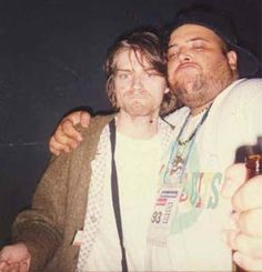Kurt Cobain and João Gordo (Ratos de Porão)