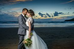 Sunset wedding photography at Saunton Sands by Michael Wells Photography