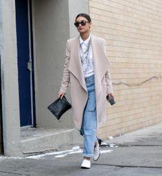 Le jean boyfriend, beau look de la Fashion Week automne hiver 2014-2015 - Cosmopolitan.fr