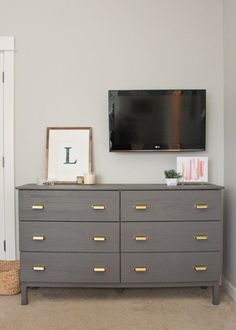 Ikea hack: Tarva dresser makeover with Benjamin Moore paint and Martha Stewart Home Depot drawer pulls