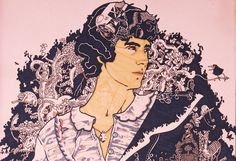 Andrea Pazienza autoritratto in rosa (1975) cult opera arte illustrazione fumetto cultstories pennarelli storia story