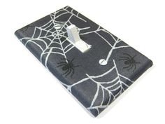 Halloween Decor Spider Web Light Switch Cover Gray by ModernSwitch, $8.00