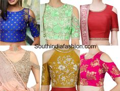 Latest trend of lehenga blouse,long skirt & saree cold shoulder crop top designs like floral print blouses with saree,halter neck, zipper etc